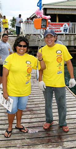 Weighing the best catch