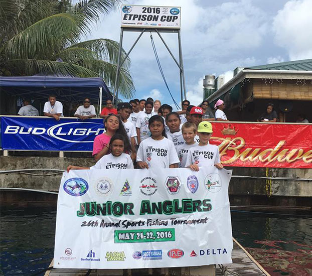 Participants of the 2015 Junior Anglers Tournament